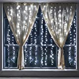 wolfwise luces de cortina bombillas m x m con modos de luz led blanco