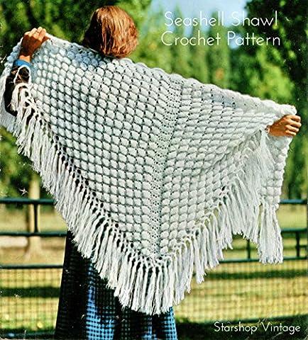 Seashell Shawl: Vintage 1970s Crochet Pattern