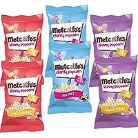 Metcalfe's Palomitas Pack de 6: Dulces de Cine 20g, Saladas 20g, Mezcla Dulce y Salado 25g (Cada uno de 2)
