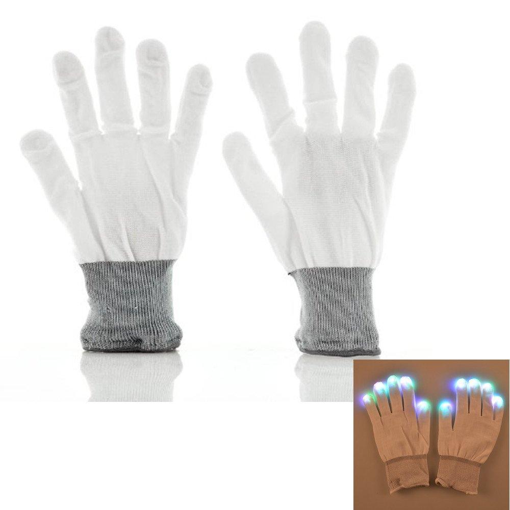 Namsan colorati e 7 modalità LED lampeggiante Rave Glow i guanti per i club,feste,Natale,corsa,cicl