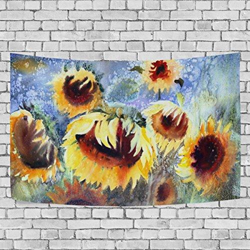 jstel Aquarell Malerei von Sonnenblumen Wandteppich für Dekoration für Wohnung Home Decor...