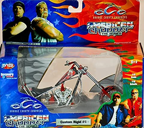 2004 - RC2 Brands / ERTL / Joy Ride - Orange County Choppers - American Chopper The Series - Custom Rigid #1 - 1:18 Scale - Die Cast Metal - 1of 9 in Series - New - MIB - Limited Edition - Collectible by OCC