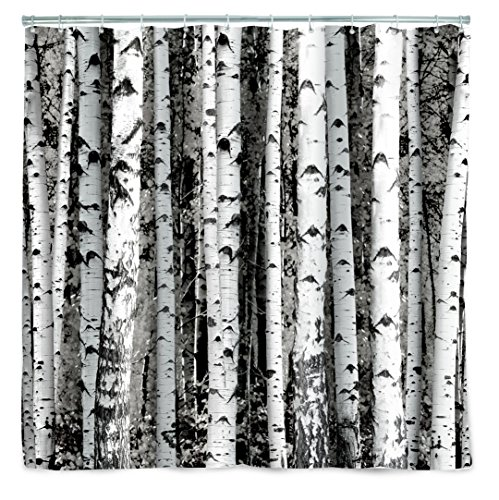 Kikkerland SH30 Duschvorhang, Stoff, grau, 183 x 183 x 0.2 cm (Duschvorhänge Stoff Kinder)