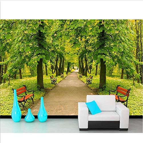 benutzerdefinierte 3d fototapete wohnzimmer wandbild waldpark stuhl landschaft foto sofa tv hintergrund vliestapete für wand 3d-280x200cm -