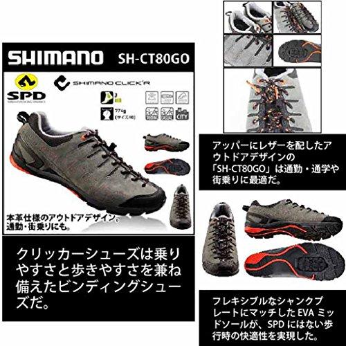 Shimano Sh-ct80, Chaussures de Vélo de Route Homme Gris (Grey/Orange)