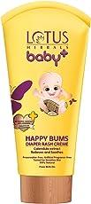 Lotus Herbals Baby+ Happy Bums Diaper Rash Crème, 100g
