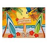 PARTY DISCOUNT Einladungskarten Beach, 10x15 cm, 6 Stück