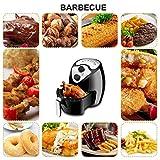 Sinbide Freidora de Aire Caliente Sin Aceite, Sistema Robot Cocina, 1230W, 2,6L, Negro
