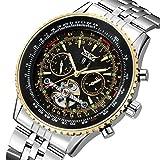 Gute Männer 's Big, Stahl Armband und Fall Automatische watch-gold