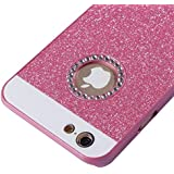 SUN-Cases & Covers Polvo de brillantes diamantes incrustados UV Protector duro caso para iPhone 6 &6S ( Color : Magenta )
