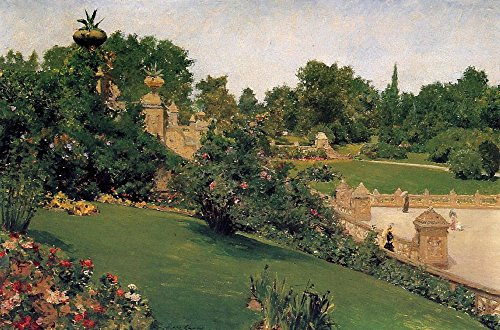 Das Museum Outlet-Terrasse am Mall, cantral Park, 1890-Leinwanddruck Online kaufen (152,4x 203,2cm)