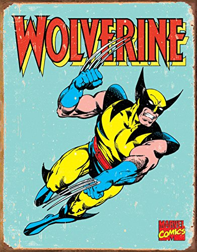 Lobezno x-Men envejecido Retro Vintage Tin Sign