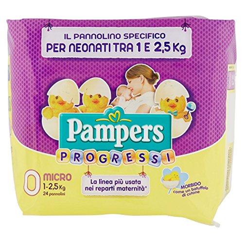 Pampers Fortschritte, 24Windeln–Micro, Größe 0(1–2,5kg) 0 Micro (1-2,5 kg)