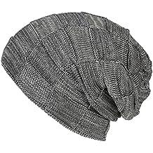 Maglia di lana a quadri a testa cilindrica - iParaAiluRy unisex di lusso alla moda Spesso Slouchy Cap cappello caldo più velluto in inverno e primavera