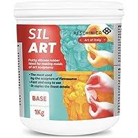 RESCHIMICA SIL ART (1kg) - Gomma siliconica in pasta per applicazioni verticali e grandi dimensioni (catalizza in 5h…