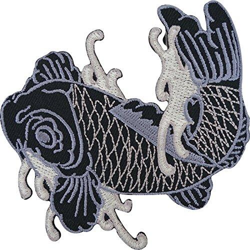 Carpa Koi japoneses pescado hierro bordado/coser parche