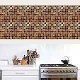 Wall Stickers lzzfw lzzfw Wandaufkleber Imitation 3D Hochtemperatur Kann gereinigt Werden Entfernbare Küche Mosaik Anti - Öl Fliesen Aufkleber