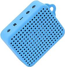 LuckyNV Durable Soft Silikon Portable Wasserdichte Abdeckung für JBL GO 2 GO2 Bluetooth Musik Lautsprecher Sleeve Tasche mit Karabiner (Blau)