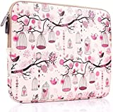 Plemo 13-13.3 Inch Laptop Sleeve Case Waterproof Canvas Fabric Bag for MacBook Air / 13.3-Inch Laptops / Notebook, Pink