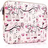 Plemo 11-11.6 Inch Laptop Sleeve Case Waterproof Canvas Fabric Bag for 11.6-Inch MacBook Air / Laptops / Notebook, Pink