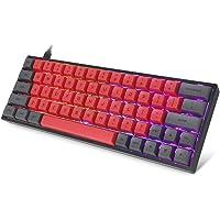 Tastiera meccanica 60%, retroilluminazione LED RGB, tastiera da gioco cablata, poggiapolsi, ergonomica, per PC/Mac Gamer…