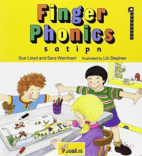 Finger Phonics Book 1 (S,a,T,I,P,N) by Lloyd, Sue, Wernham, Sara (1994) Board book