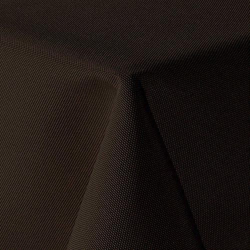 amp-artshop Tischdecke Leinen Optik Eckig 110x160 cm Dunkelbraun Braun - Farbe, Form & Größe...