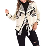 Tomwell Mujeres Ponchos Capas Tassel Suaves Suéter Otoño Invierno Largas Chaqueta Blusa Outwear Tops