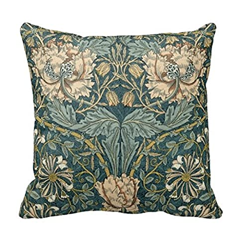 Soft Throw Pillow Case Vintage Tulips by William Morris Accent Pillows for Sofa 18x18