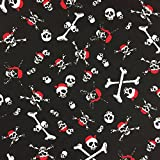 Schwarz Halloween Red Bandana Design 100% Baumwolle