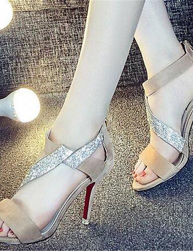 WSS 2016 Chaussures Femme-Décontracté-Noir / Beige-Gros Talon-Talons-Chaussures à Talons-Polyuréthane black-us5.5 / eu36 / uk3.5 / cn35