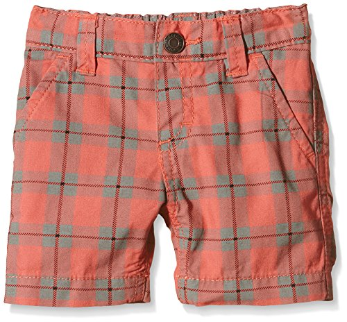 ESPRIT Baby - Jungen Short Check shorts, Gr. 62, Rot (CORAL RED 640)