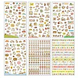 Westeng Lovely DIY Schedule Diary Calendar Photo Decorative Stickers Scrapbook Card Making Gift 6 Sheets