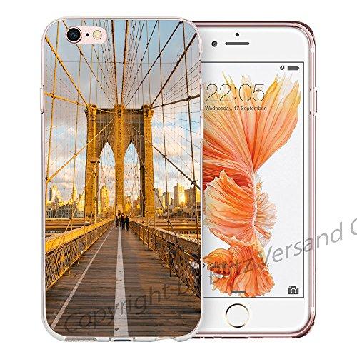 Blitz® NEW YORK motifs housse de protection transparent TPE caricature bande iPhone Lumière polaire M11 iPhone 5 Brooklyn Bridge M10