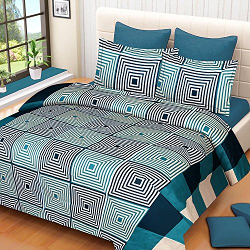 Swiss India present 3D double bedsheet 90 X90 with 2 pillow cover 17X27