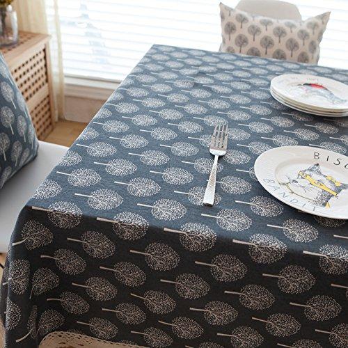 Black Bottom Mat (LKKLILY-tableclothfashion Baumwolle Leinen Tischdecke Tuch reinigen Tischdecke Kaffee Tisch Tischdecke Tischdecke Weihnachten Tischdecke, Black Bottom, Mat of Single-Layer 32 * 45)