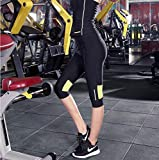 KYDJ mujer pantalones de yoga Larga Marcha deportiva Fitness Gimnasio Pilates ejercicio pantalones pantalón tres cuartos
