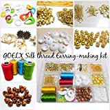 #1: Goelx Silk thread Earring/jhumka making kit- all jhumka making materials- makes earrings in different shapes with storage box