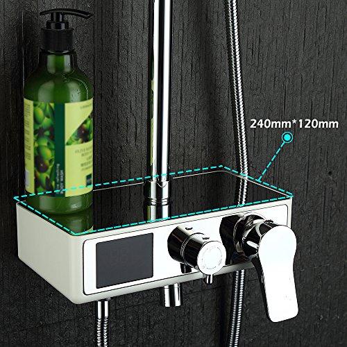 Homelody – Duschsystem mit LCD-Anzeige für Wassertemperatur und Zeit, Chrom - 4