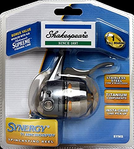 Shakespeare Synergy TI Microspin Spincasting Fishing Reel - Stainless Steel