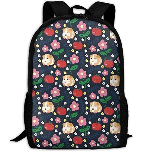 Neue Meerschweinchen Und Äpfel 3D Print Rucksack College School Laptop Tasche Daypack Reise Umhängetasche Für Unisex -