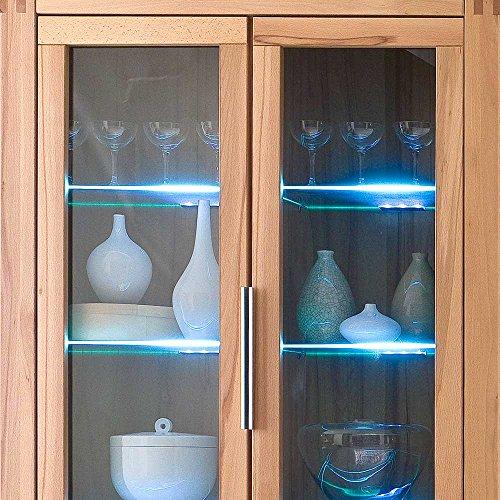 Wohnzimmer Wohnwand aus Kernbuche teilmassiv Beleuchtung (4-teilig) Ohne Beleuchtung Pharao24 - 4