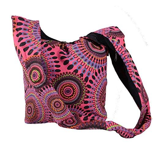 Kunst und Magie Borsa a tracolla con colorato motivo PSY Pink
