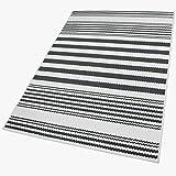 Balta Rugs in- und Outdoor-Teppich Sawstripes Black M 120x170cm f. Innen und Außen