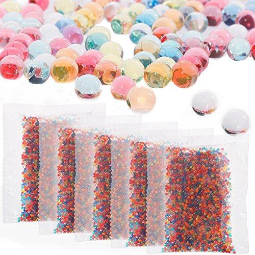 Faburo 40000pcs acqua perline palline colorate acqua gel perle di acqua crescere palline per bambini, giocattoli tatto, vasi, piante, matrimonio e decorazione
