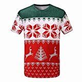 Ladies Performance Fitness Top featuring Festive Christmas Print (small)