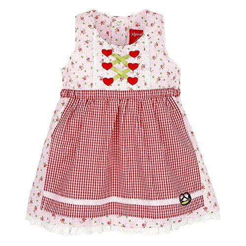 BONDI Dirndl Tracht Kinder Mädchen BLÜMCHEN ROSE mit Brezel und Strasssteinen Art. 85706 (92)
