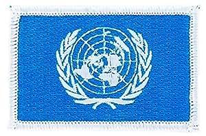 Patch écusson brodé drapeau onu nations unies flag thermocollant backpack