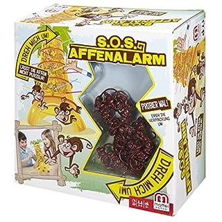Mattel Games 52563 S.O.S. Affenalarm, Kinderspiel geeignet für 2 - 4 Spieler, Spieldauer ca. 30 Minuten, ab 5 Jahren