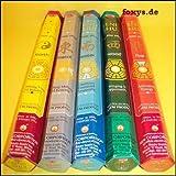Assortiment d'encens - Feng Shui - 5 boîtes x 20 pièces, HEM Encens, l'Inde...
